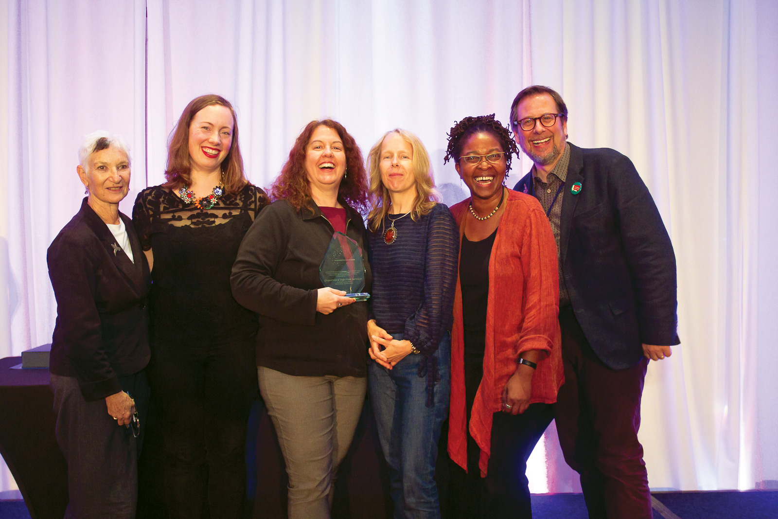 Upon accepting the Transformative Change Award received for work on Supervised Injection Services